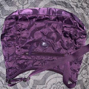 Purple Coach Crossbody Bag - Adjustable strap